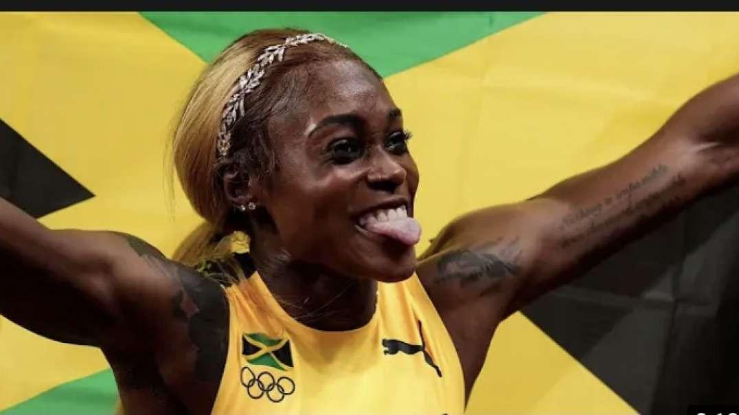 Elaine Thompson breaks record at Tokyo Olympics 2021!! Congrats Elaine, Shelly-Ann and Jackson